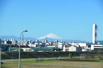 北陸新幹線から望む富士山