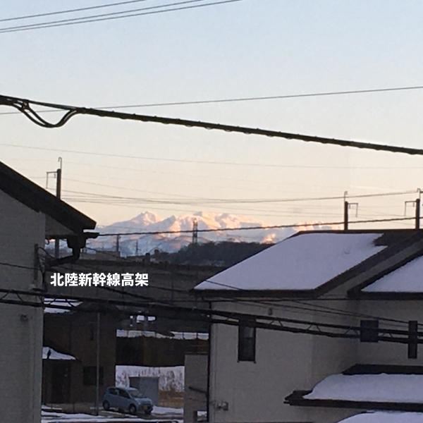 夕景 と 山