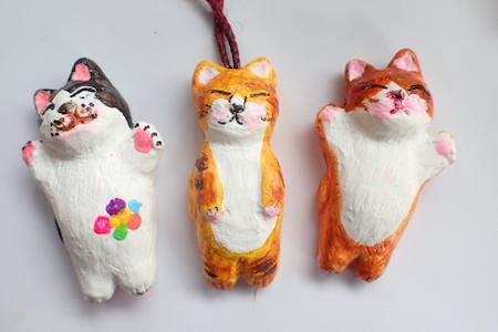 石膏アクリル猫