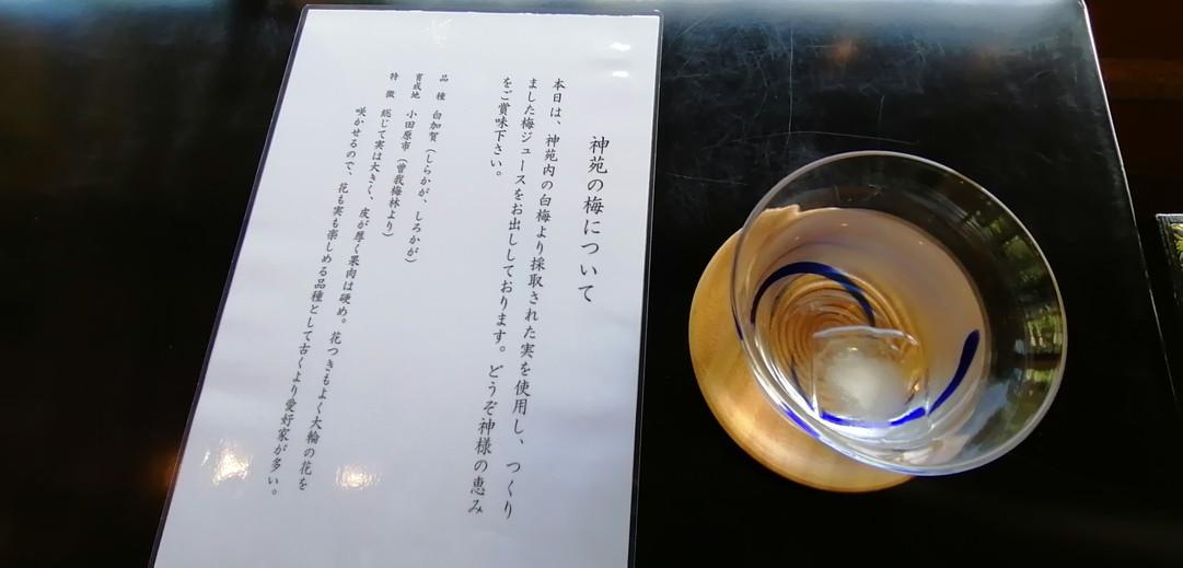 神苑_茶屋梅ジュース