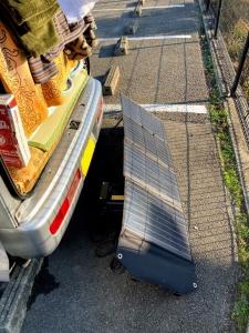 ソーラーパネルによるポータブル電源充電その2