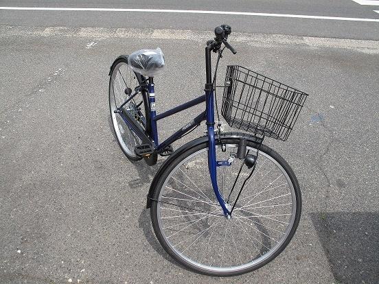 ブルーの自転車