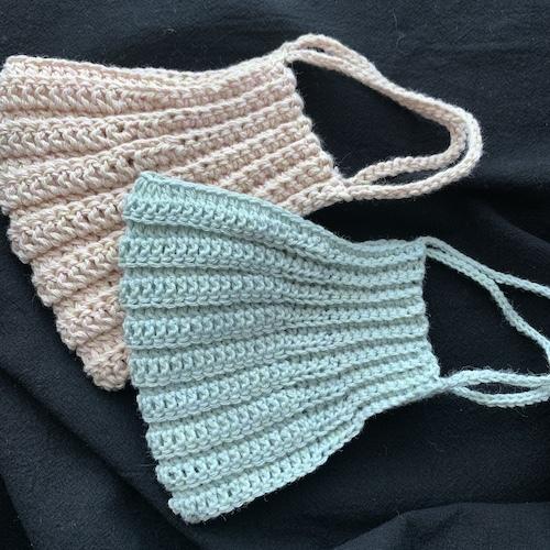 マスク 図 手編み 編み