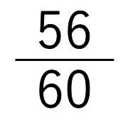 60ぶんの56