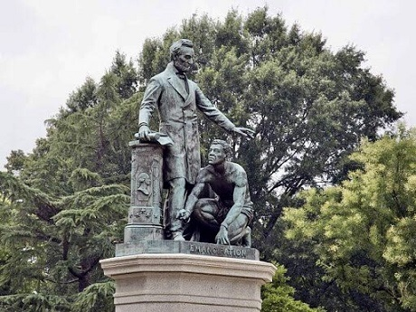20200614ボストンのリンカーン像