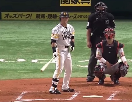 20201202日本シリーズ第3戦の代打長谷川勇也の画像