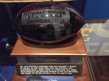 20210317ポッツビル・マルーンズが作った1925年のNFLチャンピオントロフィー