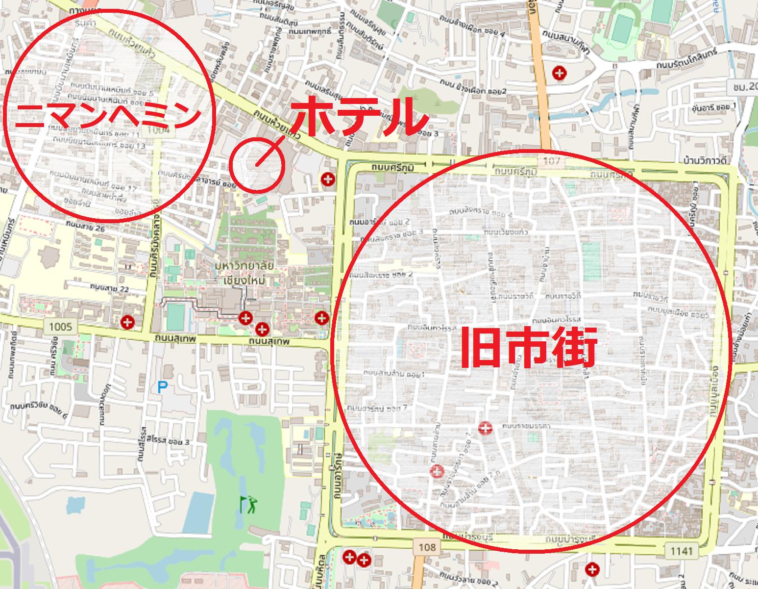 【マップ】ニマンヘミン・ホテル・旧市街の位置