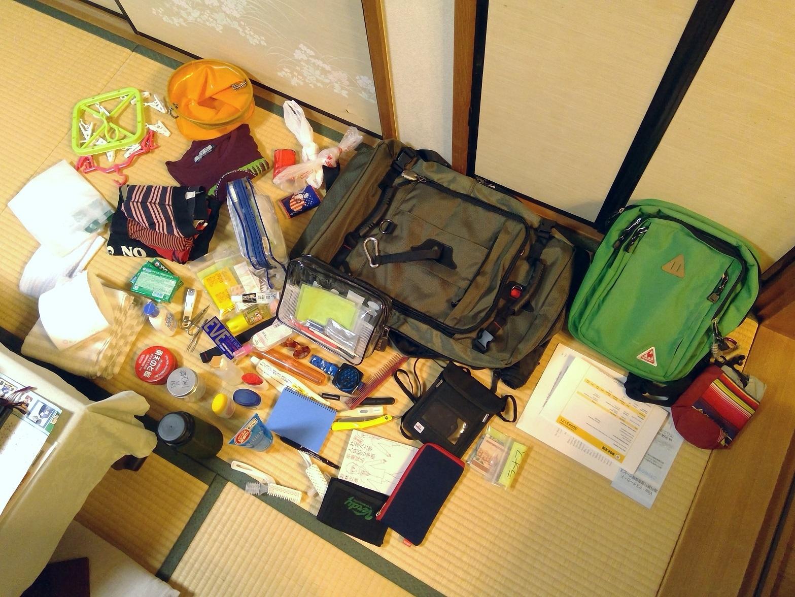 チェンマイ暮らし・移住ブログ2【準備(メインバッグ編)】