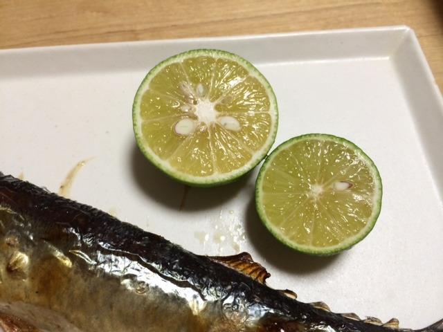 すだちと秋刀魚