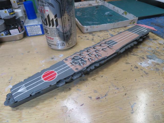 アオシマ 1/700 飛龍 の3