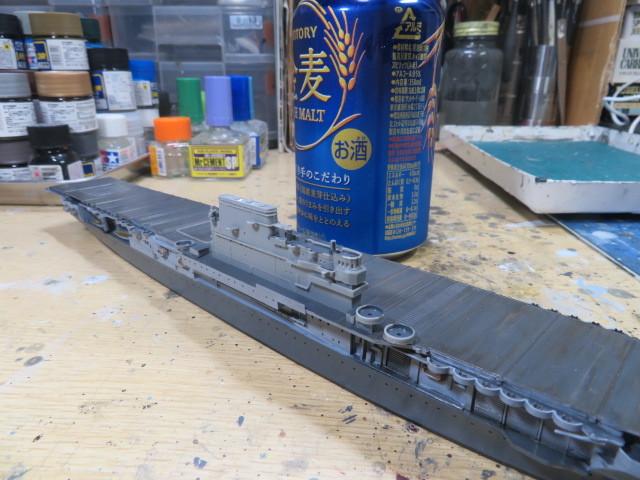 タミヤ 1/700 エンタープライズ 1942 少し進行・・・