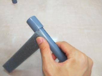 塩ビ管で水鉄砲 作り方