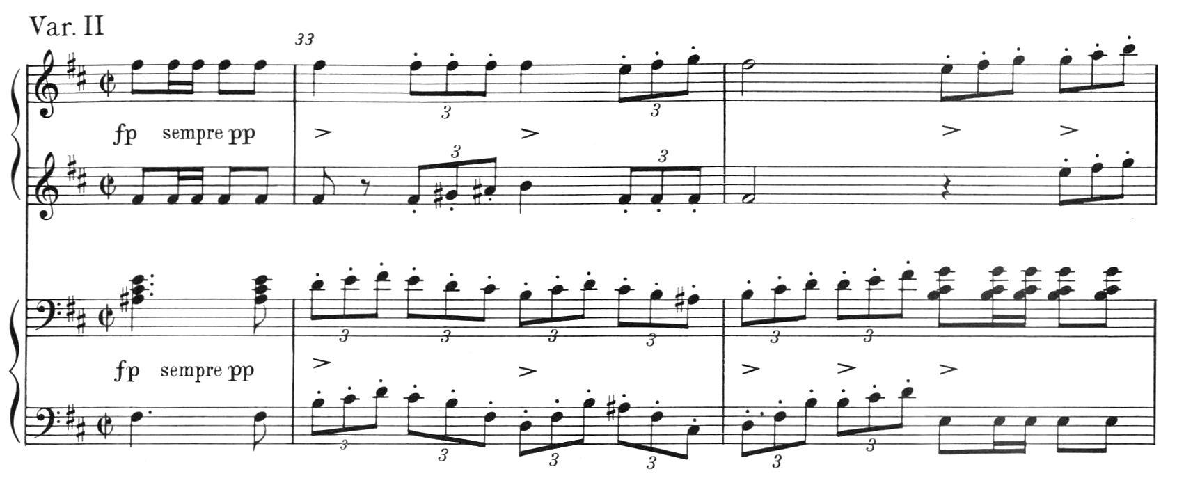 D823第2楽章第2変奏