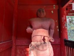 石津黒の仁王像