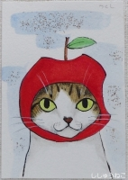 つくし君リンゴちゃん