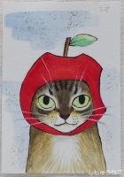 シマちゃんリンゴちゃん
