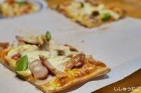 ピザ食べかけ