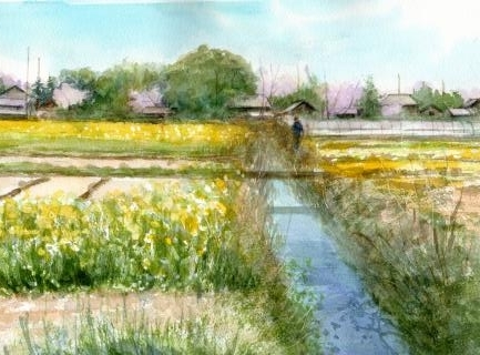 縮小 川島の春