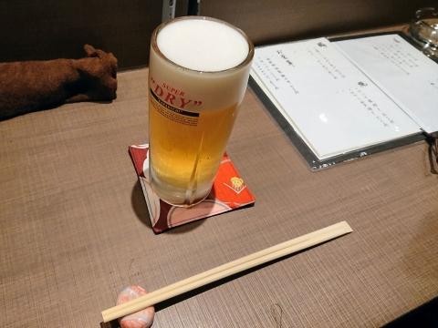 生ビール@きっちん桃源郷