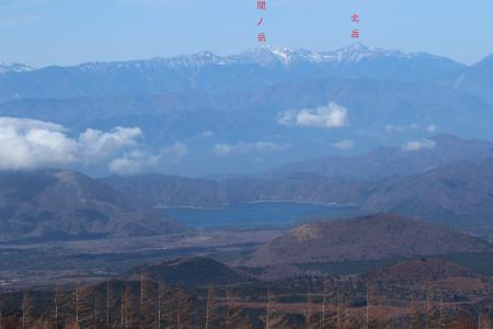 富士山から見た百名山