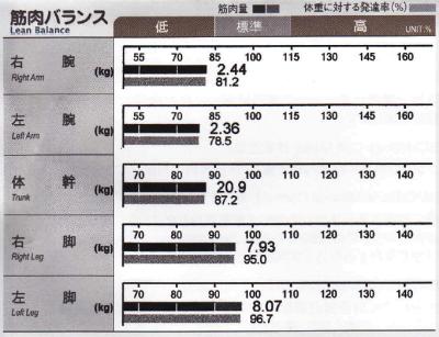 筋肉バランス結果2