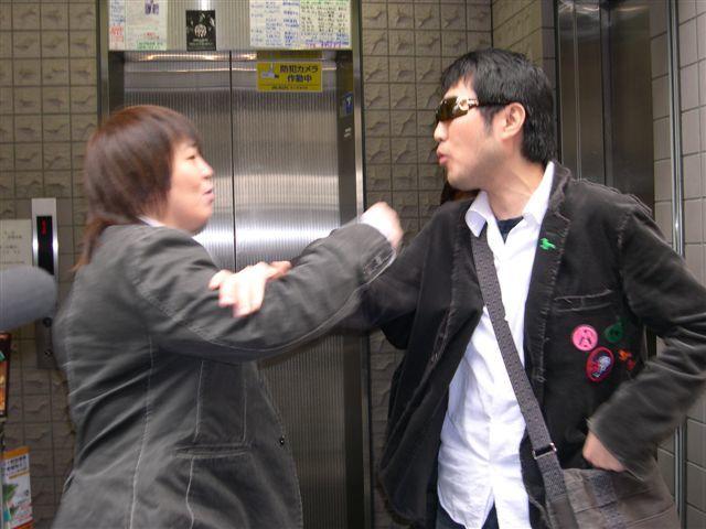 2006年4月17日富士そば前喧嘩二見、堀田