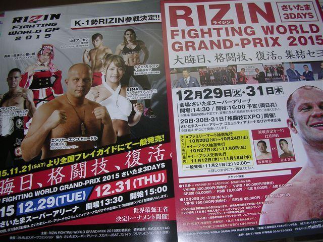 RIZIN1ちらしショードル