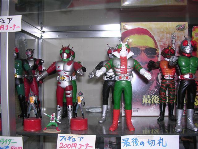 仮面ライダー1号、V3、アマゾン、ZXフィギュア
