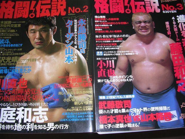 格闘伝説2、3表紙 桜庭、藤田