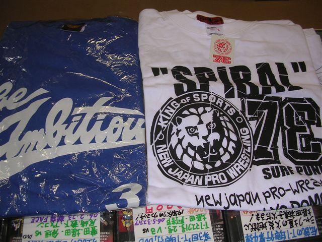 新日本プロレスSPIRAL Tシャツ、永田祐志Tシャツ