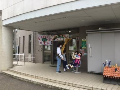児童館入口の飾り