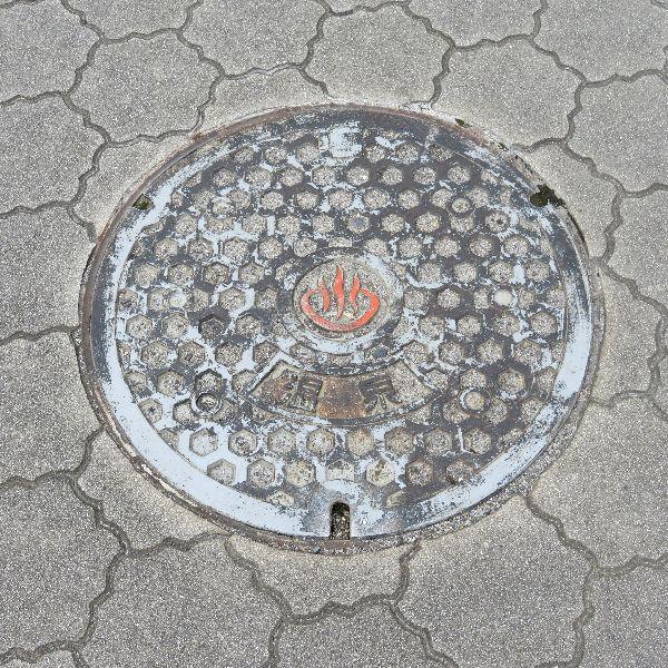 別府市のマンホール(温泉)