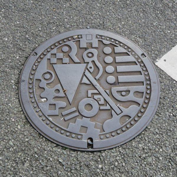 福岡市のマンホール(イラスト)