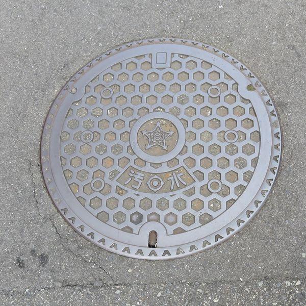貝塚市のマンホール(幾何学模様)