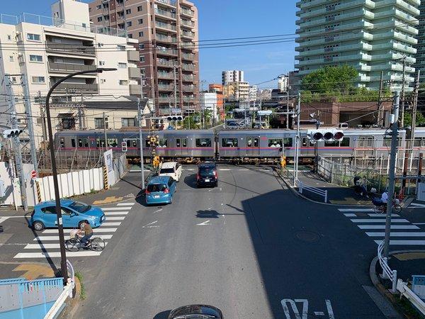 京成押上線平和橋通り踏切