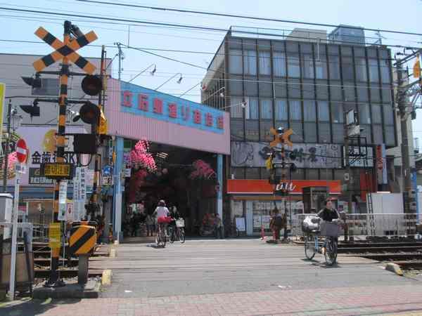 今後再開発が予定されている京成立石駅前の商店街