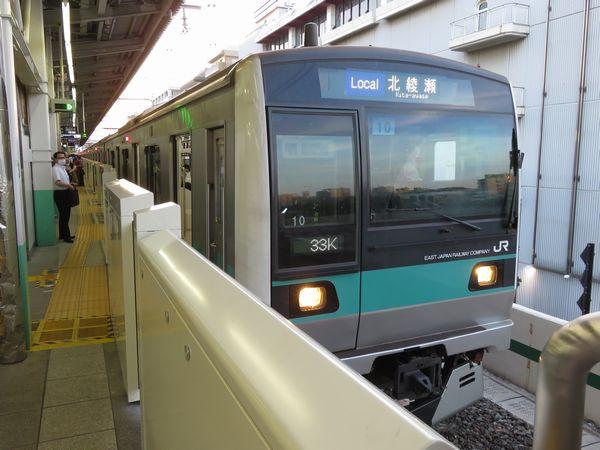 JR東日本E233系2000番台の北綾瀬行き