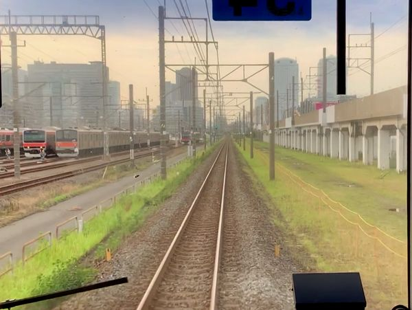 下り列車(蘇我行き)から見た幕張新駅予定地