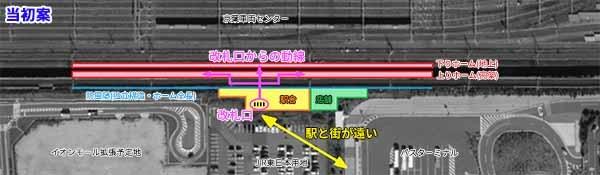 幕張新駅駅舎レイアウト(当初案)
