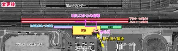幕張新駅駅舎レイアウト(変更後)