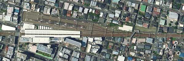 奥沢駅付近の2017年の航空写真