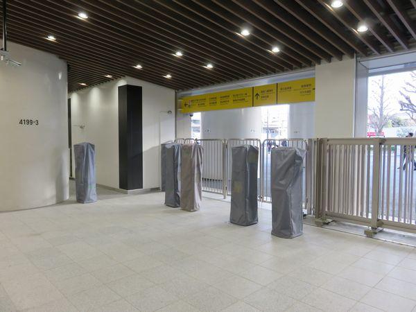 新国立競技場でのイベント開催に備え、簡易Suica改札機も設置