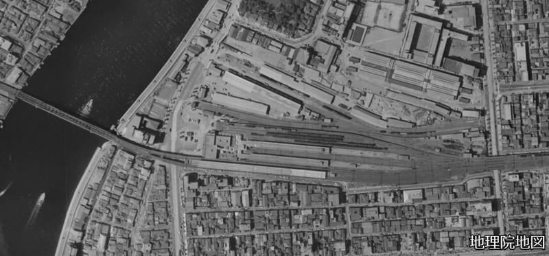 両国駅周辺航空写真(1960年代)