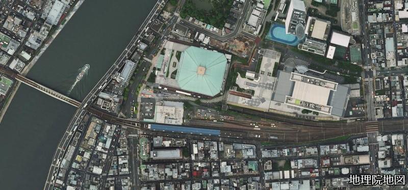 両国駅周辺航空写真(2010年代)