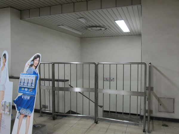 特別避難階段の地下1階側出口