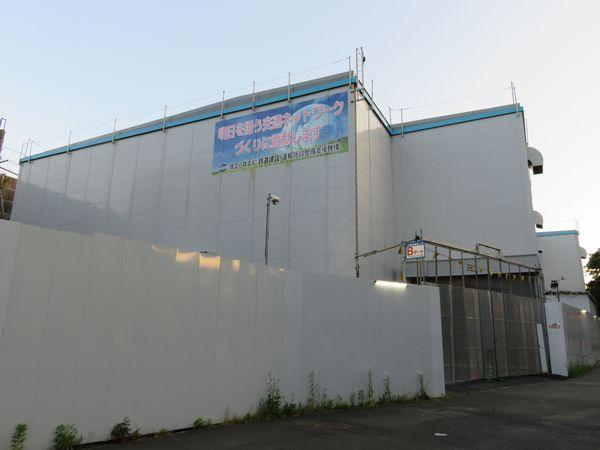 羽沢トンネル工事期間中に設けられていた設備建屋。