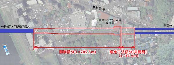 新綱島駅の位置