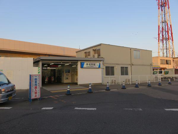 2018年1月に仕様を開始した野田市駅仮駅舎。