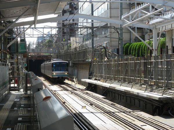 不動前~洗足間は2006年に地下化された。